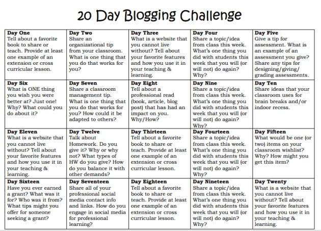 blogging-challenge