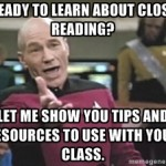 Close Reading memes