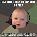 tech tools to connect to text