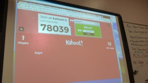 Playing Kahoot